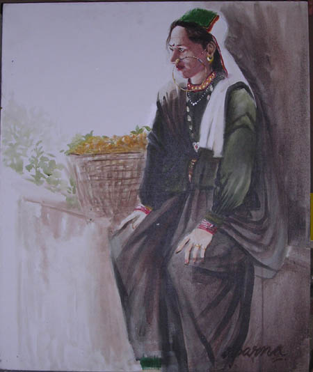 Potrait of a Bhotiya Women
