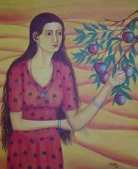 Girl with apple I