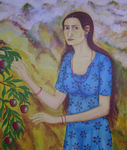 Girl with apple II