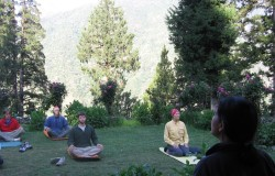 Yoga in the Himalayan Air